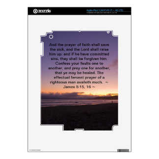 James 5:15- 16 decals for iPad 3