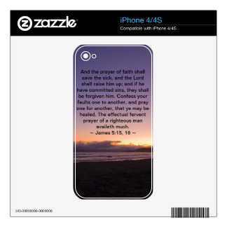 James 5:15- 16 skins for iPhone 4