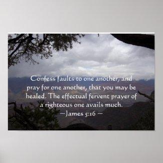 James 5:16 Poster print