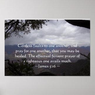 James 5:16 Poster