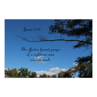 James 5:16 The effective fervant prayer of a Poster