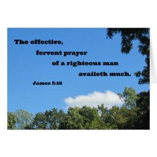 James 5:16 The effective, fervent prayer... Card