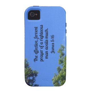 James 5:16 The effective, fervent prayer... iPhone 4/4S Cover