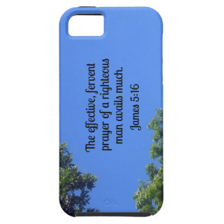 James 5:16 The effective, fervent prayer... iPhone 5 Cover