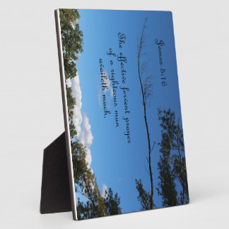 James 5:16 The effectual fervent prayer of Photo Plaques