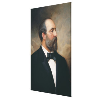 JAMES A. GARFIELD by Ole Peter Hansen Balling Canvas Print