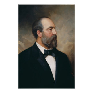 JAMES A. GARFIELD by Ole Peter Hansen Balling Poster