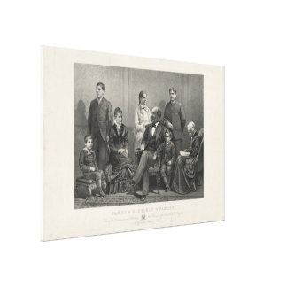 James A. Garfield & family by J.H Buffords & Sons Canvas Print