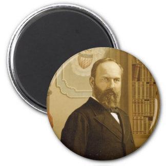 James A Garfield magnet