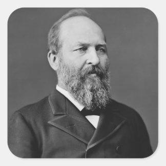 James A. Garfield Pegatina Cuadrada