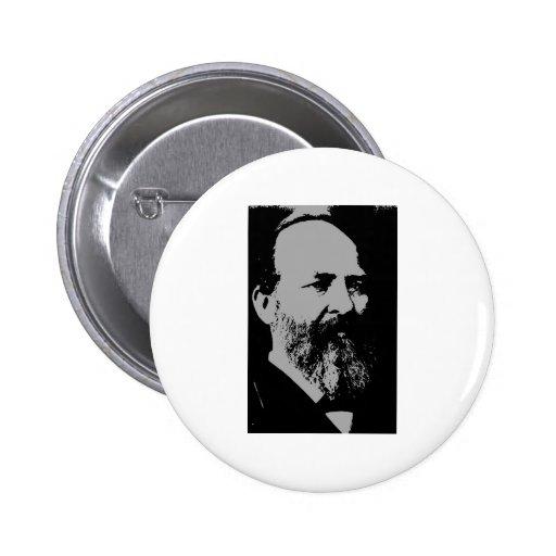 James A. Garfield silhouette 2 Inch Round Button