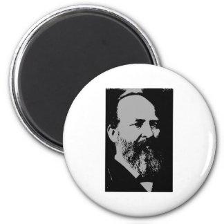 James A. Garfield silhouette Magnet