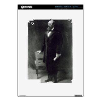 James A. Garfield, vigésimo presidente del St unid iPad 3 Pegatinas Skins