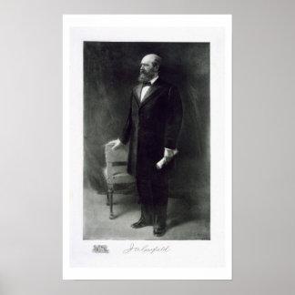 James A. Garfield, vigésimo presidente del St unid Impresiones