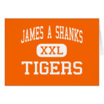 James A Shanks - Tigers - High - Quincy Florida Greeting Cards