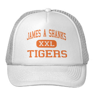 James A Shanks - Tigers - High - Quincy Florida Trucker Hat