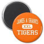 James A Shanks - Tigers - High - Quincy Florida Fridge Magnet