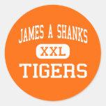 James A Shanks - Tigers - High - Quincy Florida Round Sticker