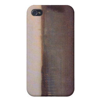 James Abbot McNeill Whistler - Nocturne in gray an iPhone 4 Cases