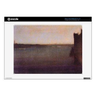 James Abbot McNeill Whistler - Nocturne in gray an Skin For Acer Chromebook