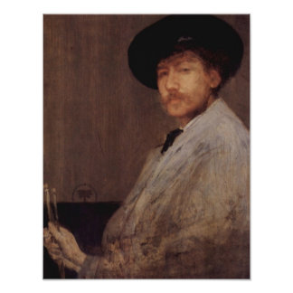 James Abbot McNeill Whistler - Self Portrait Print