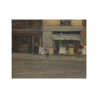 James Abbott McNeill Whistler - Chelsea Shops Canvas Print