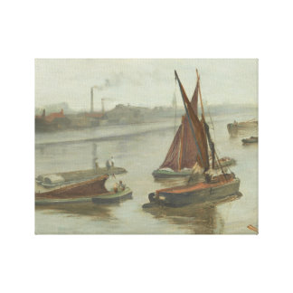 James Abbott McNeill Whistler - Grey and Silver Canvas Print