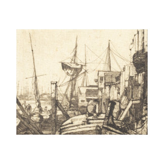 James Abbott McNeill Whistler - Limehouse Canvas Print