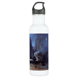 James Abbott McNeill Whistler - Night in Black and Stainless Steel Water Bottle