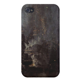 James Abbott McNeill Whistler - Nocturne in black Cover For iPhone 4