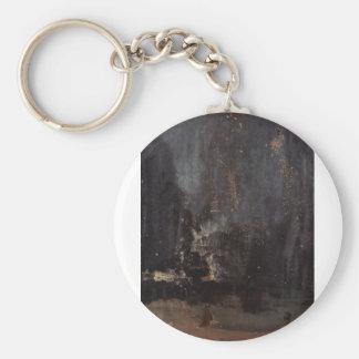 James Abbott McNeill Whistler - Nocturne in black Key Chains