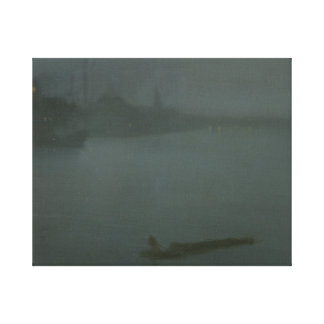James Abbott McNeill Whistler - Nocturne in Blue Canvas Print