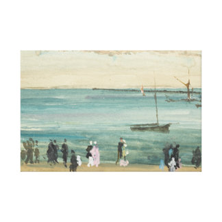 James Abbott McNeill Whistler - Southend Pier Canvas Print