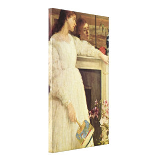 James Abbott McNeill Whistler - Symphony in White Canvas Print