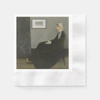 James Abbott Whistler - Whistler's Mother Coined Cocktail Napkin