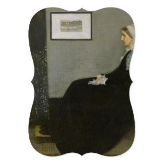"""James Abbott Whistler - Whistler's Mother 5"""" X 7"""" Invitation Card"""