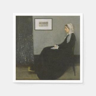 James Abbott Whistler - Whistler's Mother Standard Cocktail Napkin