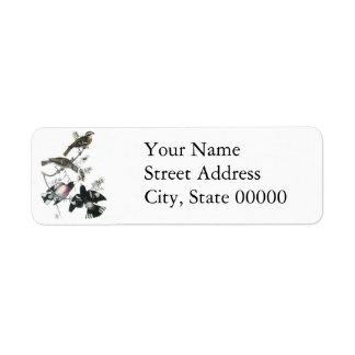 James Aubudon Rose-breasted Grosbeak Custom Return Address Labels