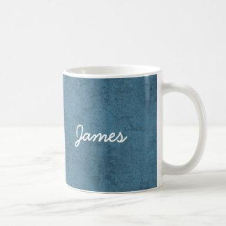 JAMES Blue and White Custom Name Gift Collection Coffee Mug
