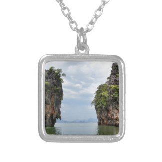 James Bond Island Silver Plated Necklace
