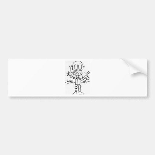 James   Bot Car Bumper Sticker