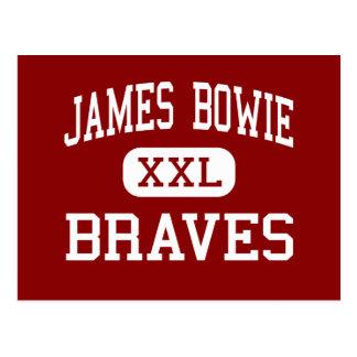James Bowie - Braves - centro - Amarillo Tejas Tarjeta Postal