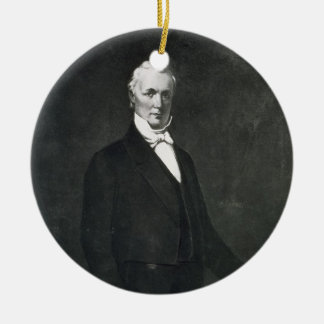 James Buchanan, 15th President of the United State Ceramic Ornament
