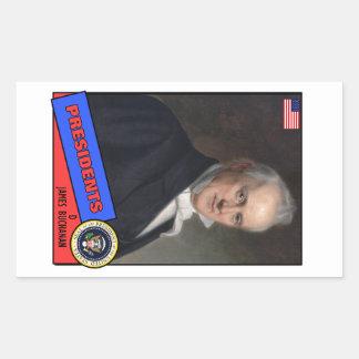 James Buchanan Baseball Card Rectangular Sticker