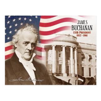 James Buchanan - décimo quinto presidente de los E Tarjeta Postal
