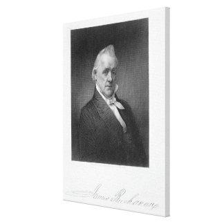 James Buchanan, engraved by Henry Bryan Hall (1800 Canvas Print