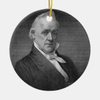 James Buchanan, engraved by Henry Bryan Hall (1800 Ceramic Ornament