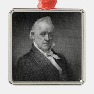 James Buchanan, engraved by Henry Bryan Hall (1800 Metal Ornament