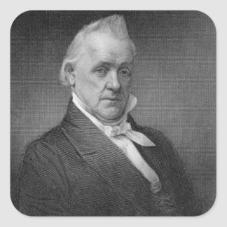 James Buchanan, engraved by Henry Bryan Hall (1800 Square Sticker