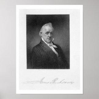 James Buchanan, grabado por Henry Bryan Pasillo (1 Póster